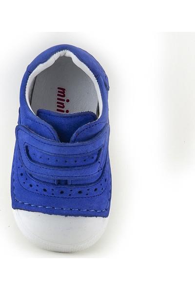 Minipicco Unisex Bebek Saks Deri İlk Adım Ayakkabı