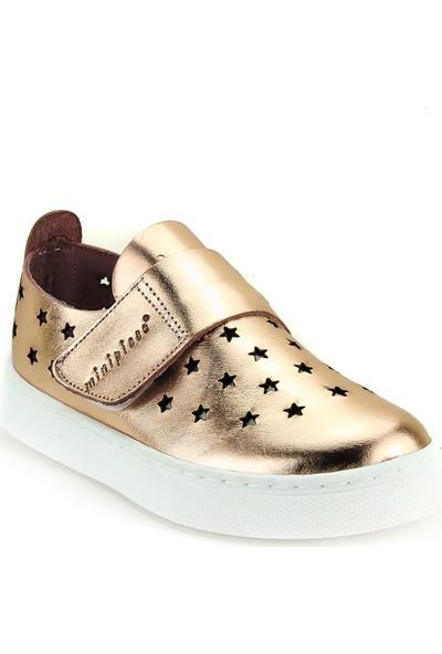 Minipicco Unisex Çocuk Bakır Deri Ayakkabı