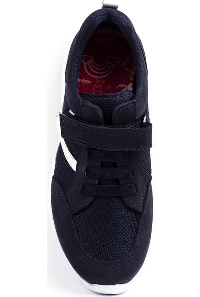 Minipicco Unisex Çocuk Lacivert Deri Spor Ayakkabı
