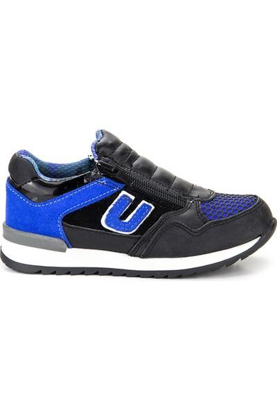Minipicco Unisex Çocuk Saks Mavi Deri Ayakkabı