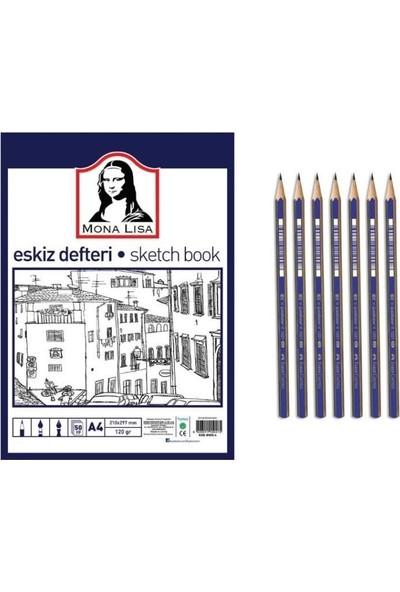 Südor Mona Lisa A5 Eskiz Defteri ve Faber-Castell Dereceli Kalem Seti