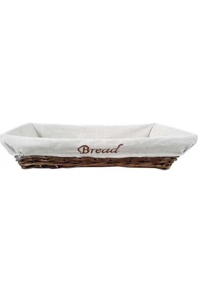 Groovy Ekmek Sepetı Acık Bufe Hasır Dıkdortgen Konık Bezlı 55 x 40 cm