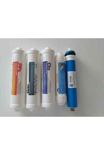 Aquaturk Nsf Belgeli Kapalı Kasa Filitre Seti + Arıtmalı Duşbaşlığı +Musluk