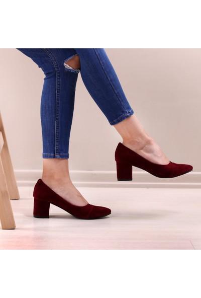 Pabucmarketi Comfort Bordo Kuzu Kadın Ayakkabısı