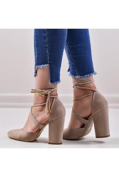 Pabucmarketi Comfort Kum Kuzu Kadın Sandalet