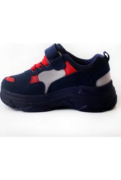 Pabucmarketi Comfort Lacivert Kırmızı Buz Çocuk Yazlık Spor Ayakkabı