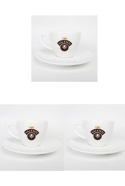 Cafe Valente Türk Kahvesi Fincan + Tabak 3'lü Set