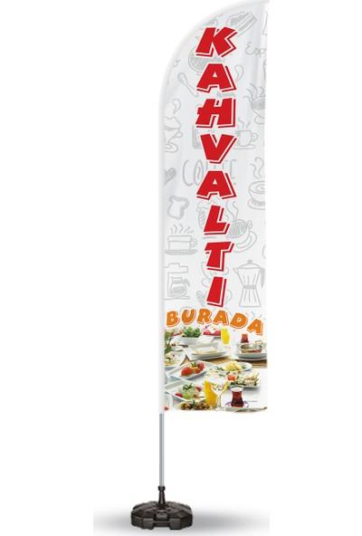 ReklamEdiyoruz Kahvaltı Temalı Yelken ve Reklam Bayrağı