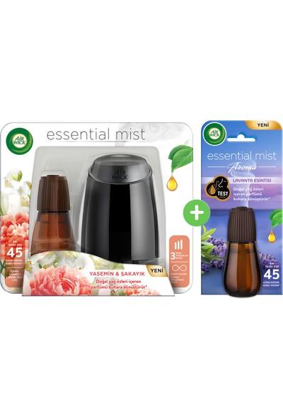 Air Wick Essential Mist Hava Tazeleyici Kit Yasemin+Lavanta Yedek