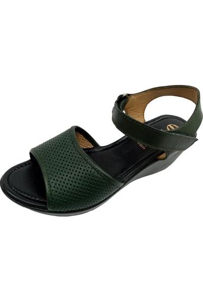 Freefour 1604 Dolgu Topuklu Kadın Sandalet