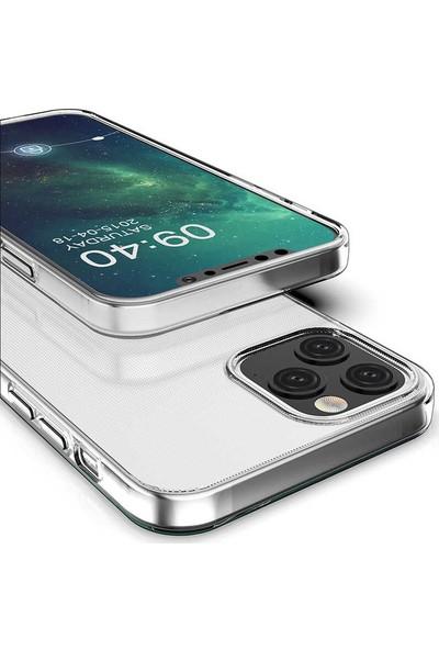 Tekno Grup Apple iPhone 12 (6.7'') Kılıf Lüx Silikon Kılıf + Nano Ekran Koruyucu Şeffaf
