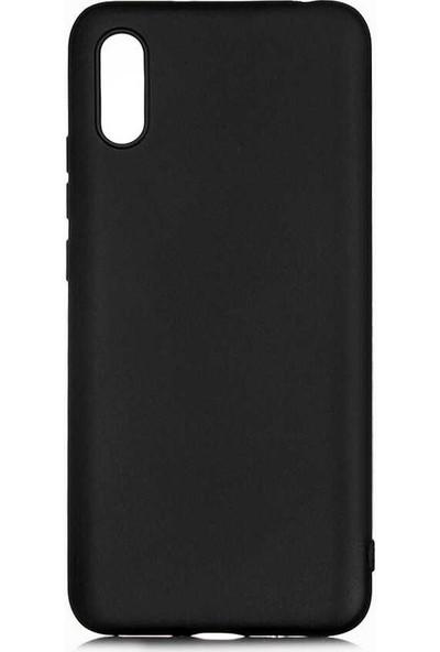 Tekno Grup Xiaomi Redmi 9A Kılıf Mat Premium Silikon Kılıf Siyah