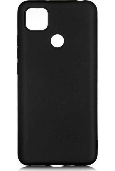 Tekno Grup Xiaomi Redmi 9c Kılıf Mat Premium Silikon Kılıf + Cam Ekran Koruyucu Siyah
