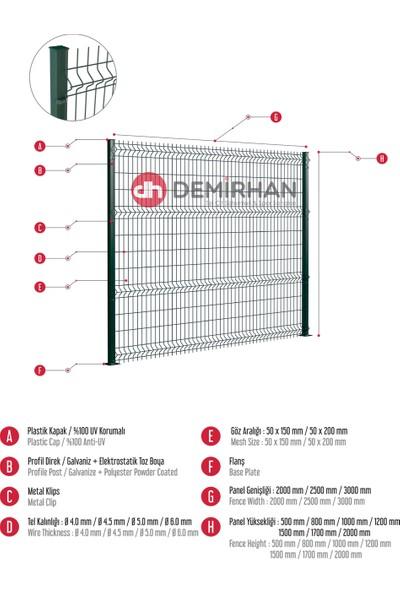 Demirhan Tel Çit 100 cm x 250 cm Çit Paneli