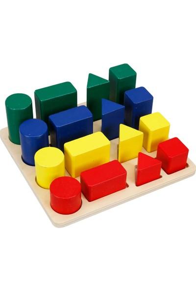 Woody Ahşap Geçmeli Bultak Geometrik Şekiller