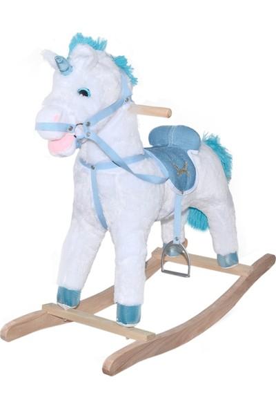 Selay Toys Sallanan Oyuncak At 65 cm - Beyaz