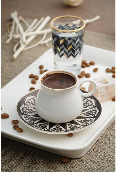 Acar Alles Porselen 6'lı Kahve Fincan Seti
