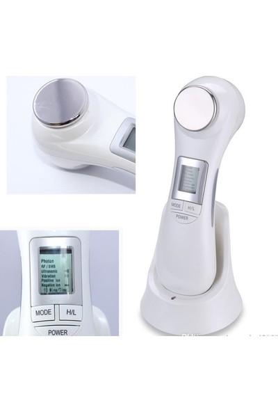 Yüz Ütüsü Cihazı Ultrasonik Cilt Sıkılaştırma Germe Yenileme Temizleme Mezoterapi Aleti Yüz Kırışıklık Iz Leke Giderme Masaj Bakım Makinesi