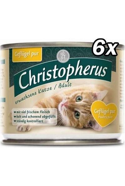 Christopherus Tahılsız Kümes Hayvanlı Kedi Konservesi 200 gr - 6 Adet