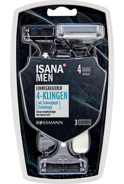 Isana Men Tıraş Makinesi 4 Bıçaklı 3 Adet
