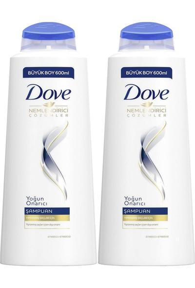 Dove Şampuan Yoğun Onarıcı 600 ml 2 Adet
