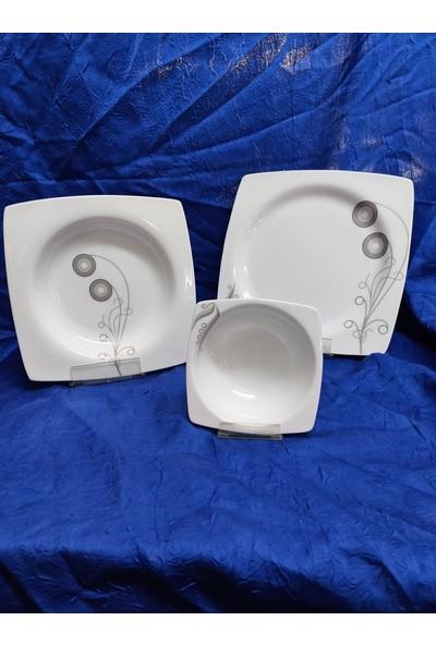 Roy King 58 Parça Michelle Bone China Porselen Yemek Takımı