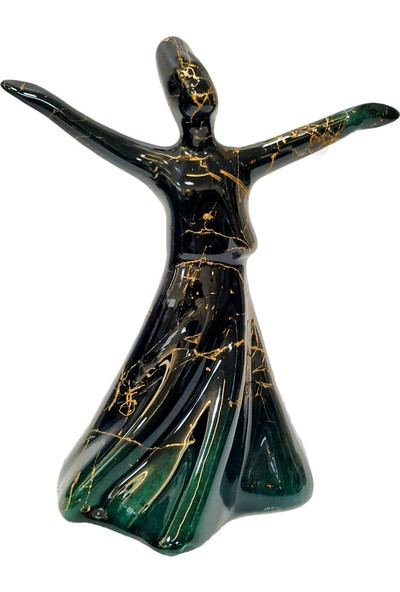 Otogar Çi̇ni̇ Mermer Desenli 3'lü Çini Semazen Seti