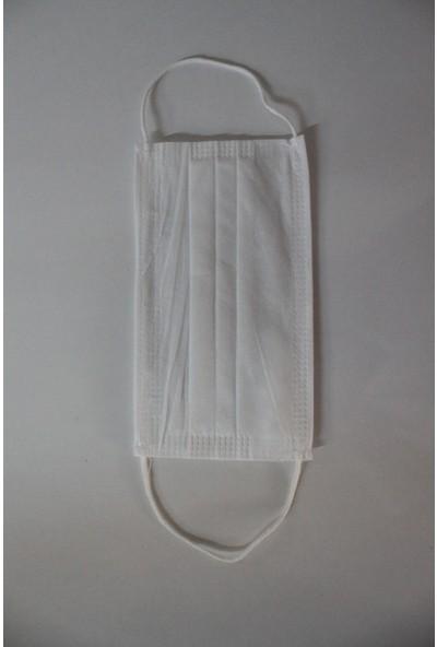 Alya Maske Beyaz Cerrahi Maske 50'li 2 Tane Kutu (100 Adet)