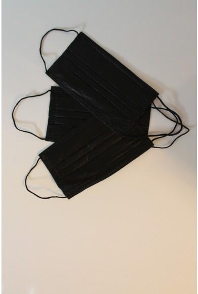Alya Maske Siyah Cerrahi Maske 50'li 2 Tane Kutu (100 Adet)