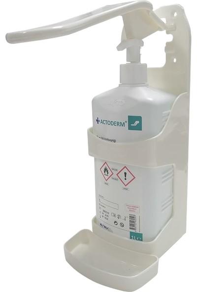 Acto Plastik Duvar Dispenseri + Actoderm 1Lt