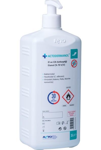Actodermanol El ve Cilt Dezenfektanı Etanol %70 1 Litre