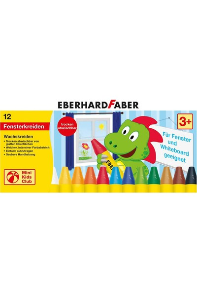 Eberhard Faber Cama Yazan Mumlu Pastel Boya 12 Renk