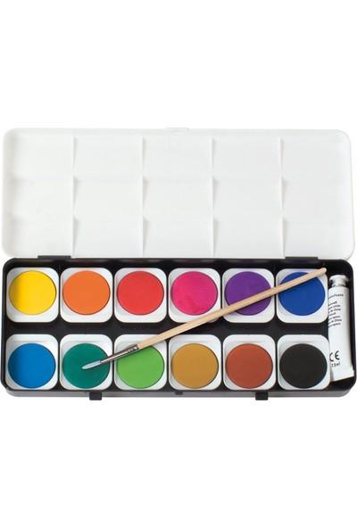 Eberhard Faber Opak Sulu Boya 12 Renk + 1 Tüp Renk Açıcı