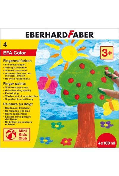 Eberhard Faber Parmak Boyası Seti 4 Renk x 100 Ml.