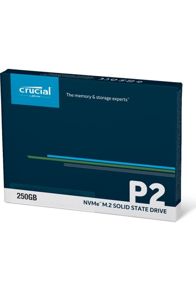 Crucial P2 250GB 2100MB-1150 MB/s NVMe PCIe M2 SSD CT250P2SSD8