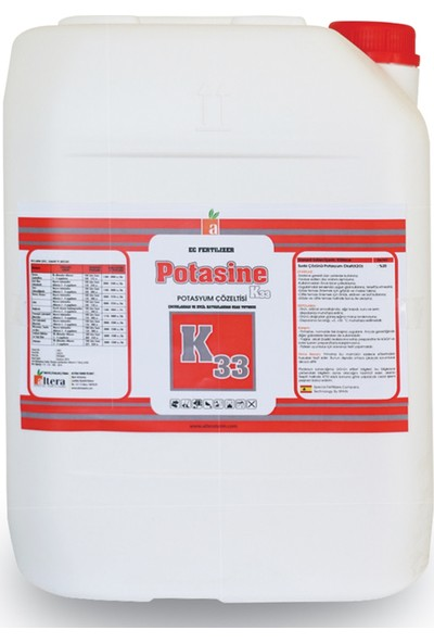 Altera Potasine K30 Potasyum Çözeltisi 10lt