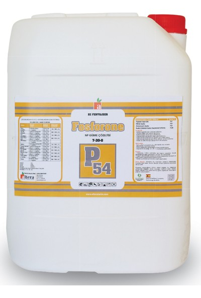 Altera Fosforone P54 Np Gübre Çözeltisi 10lt