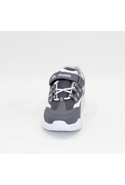 Armix Füme Beyaz Anorak Poli Taban Çocuk Spor Ayakkabı