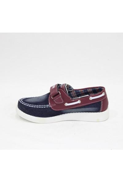 Milton Kot Bordo Cırtlı Günlük Çocuk Ayakkabı