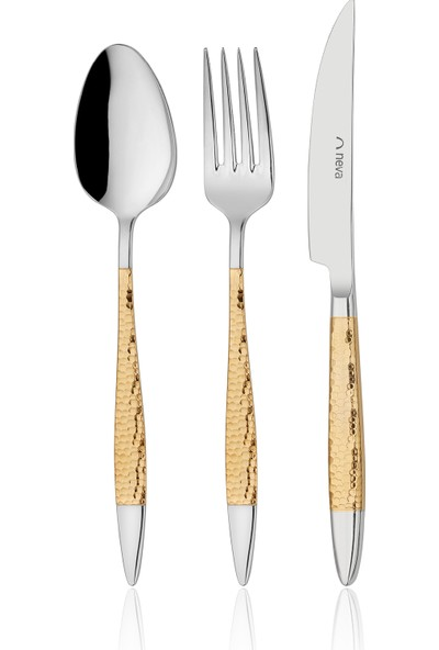 Neva N2901 Mabel Gold 84 Parça Çatal Kaşık Bıçak Seti