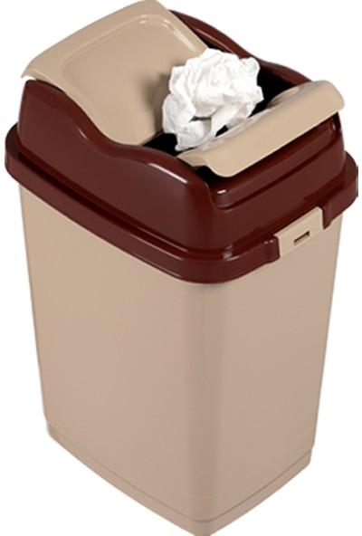 Dünya Plastik 18 Lt Easy Çöp Kovası Kahverengi