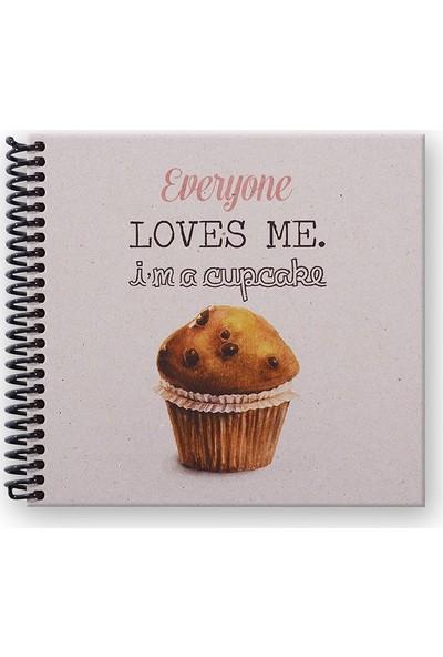 Keskin Color Everyone Loves Me Cupcake 50 Yaprak Noktalı Defter 16 x 50 cm