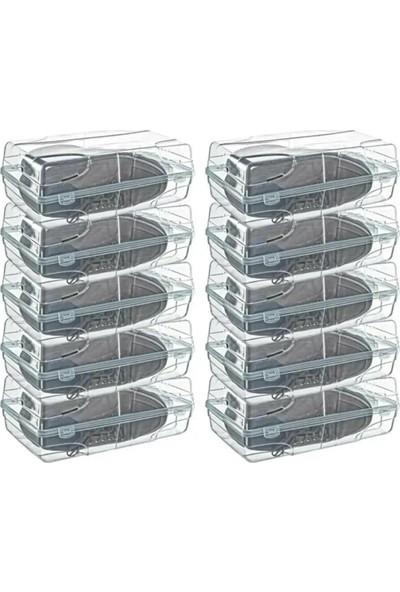 Meleni Home Şeffaf 5'li Bot Çizme Ayakkabı Saklama Kutusu