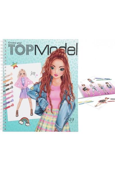 Top Model Create Your Colouring Book Tasarım Defteri