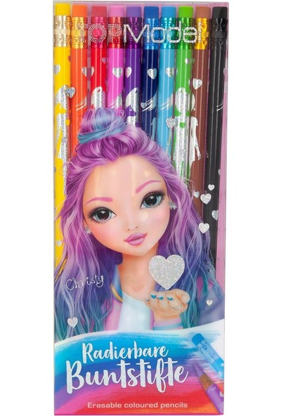 Top Model Erasable Coloured Pencils Renkli Kalem Seti