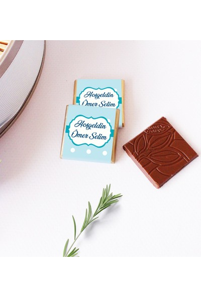Hayal Sepetim Erkek Bebek Çikolatası 100 Madlen+200 gr Draje