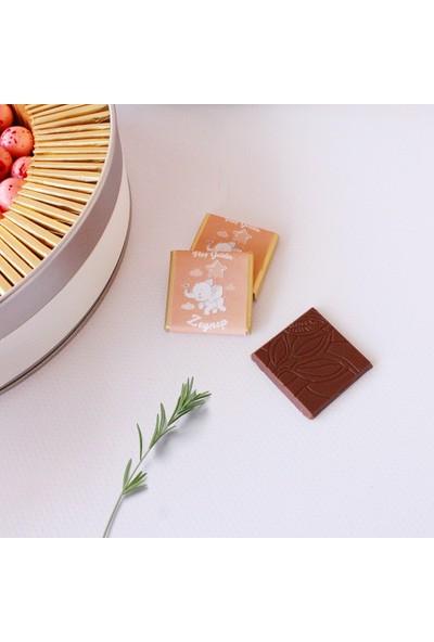 Hayal Sepetim Kız Bebek Çikolatası 100 Madlen+Draje
