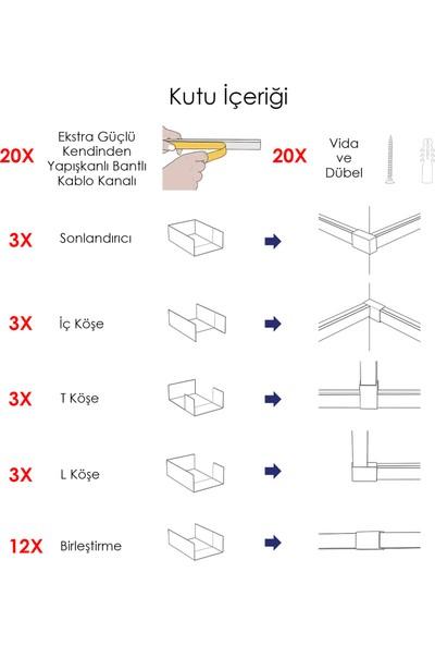A Plus Elektrik 25 x 16 cm Kablo Dünzenleyici Kanal Kiti