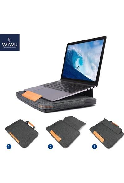 """Wiwu MacBook Laptop Çanta Retina Pro Handbag Stand Koruma 15.6"""" Su Geçirmez"""