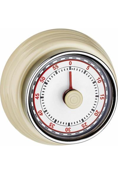 Tfa Dostmann Mıknatıslı Retro Analog Mutfak Zamanlayıcı Timer Beyaz
